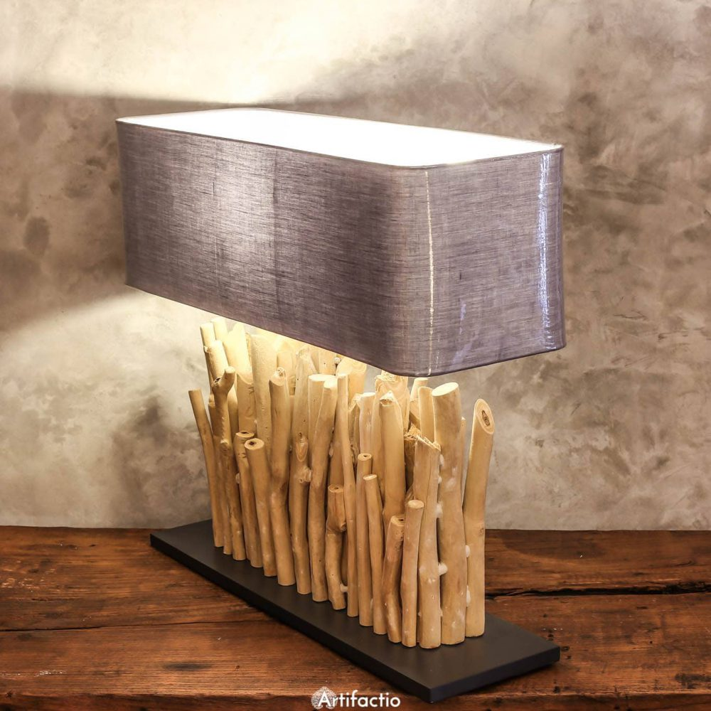 Unique Handmade Driftwood Table Lamp