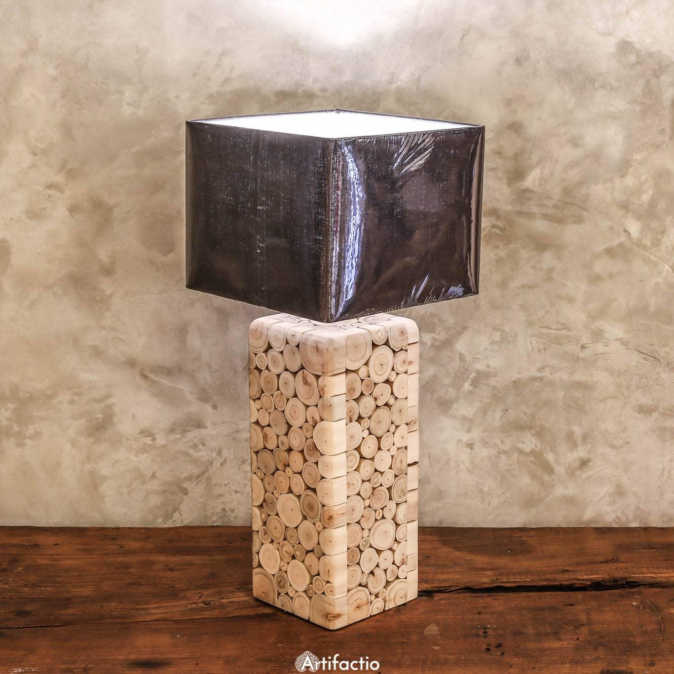 Unique handmade eucalyptus table lamp artifactio - Unique handmade lamps ...