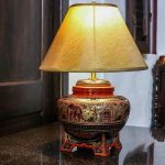 Burmese lacquer lamp hand-made