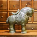 Decorative horse statue cast ion bronze from Thailand
