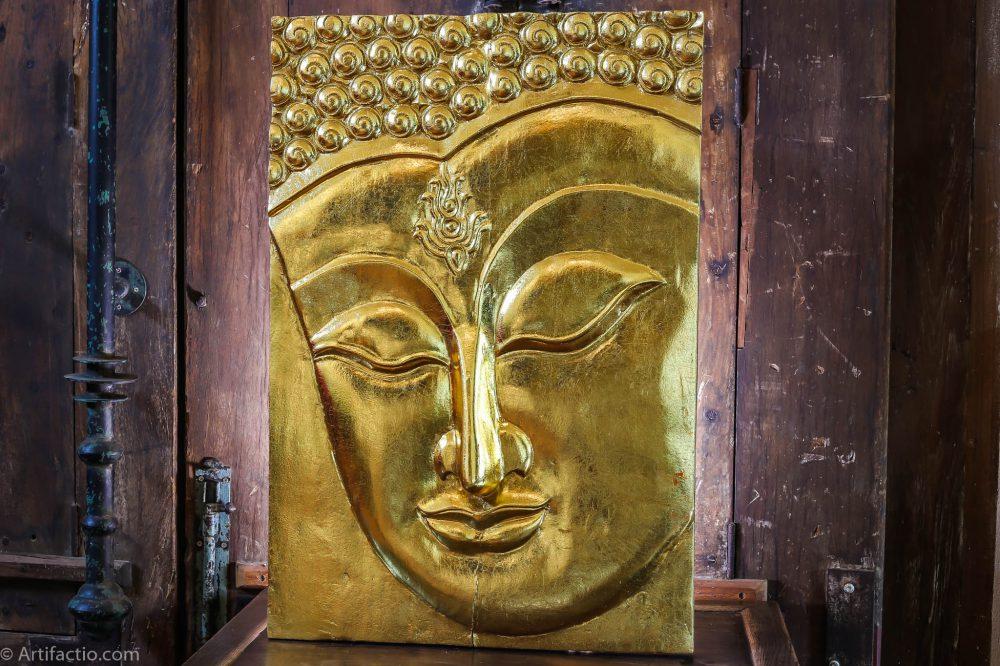 Gold Buddha Wall Panel