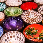 Handmade Painted Coconut Shells