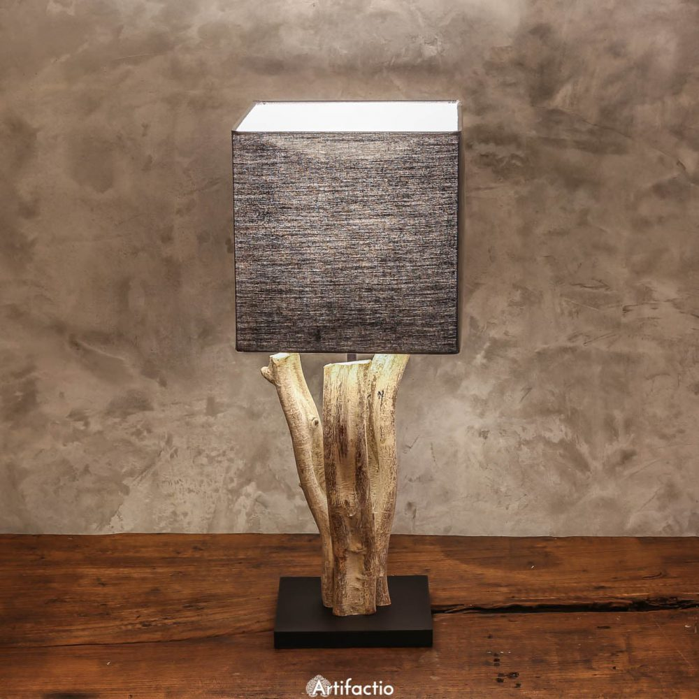 Handmade Thai table lamp made from vines.